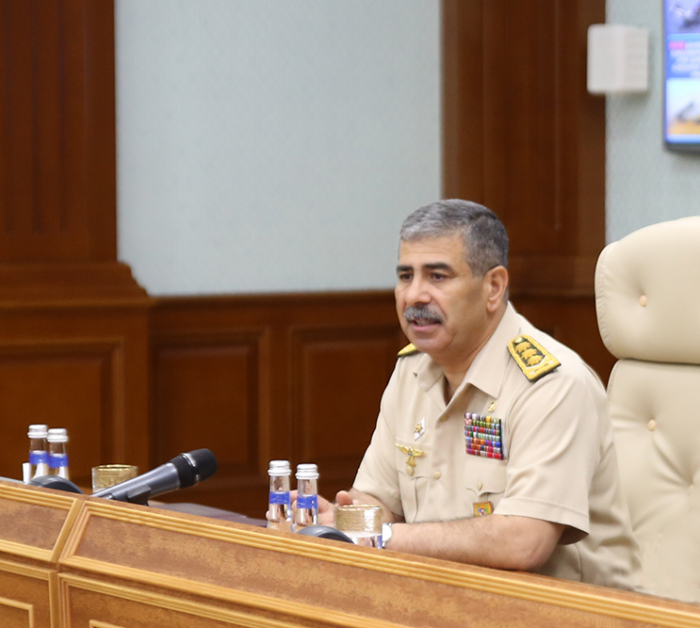 Azerbaijani defense minister holds official meeting