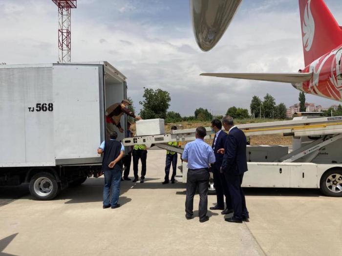 Aserbaidschan schickt AstraZeneca-Impfstoff per AZAL-Flugzeug nach Duschanbe
