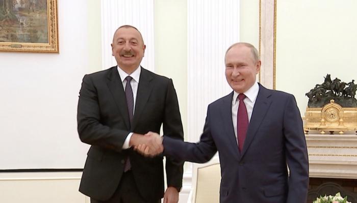 Putin İlham Əliyevə təşəkkür etdi