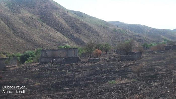 Videoaufnahmen   des Dorfes Altindscha in der Region Gubadli
