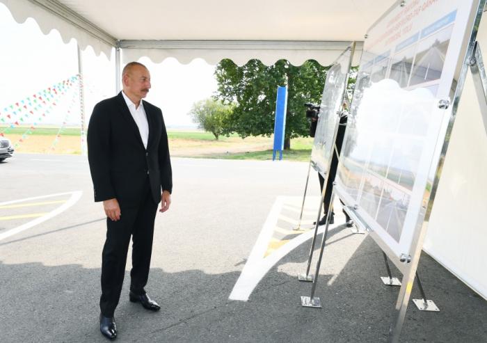Ilham Aliyev a effectué une visite dans la région de Goranboy - Mise à Jour