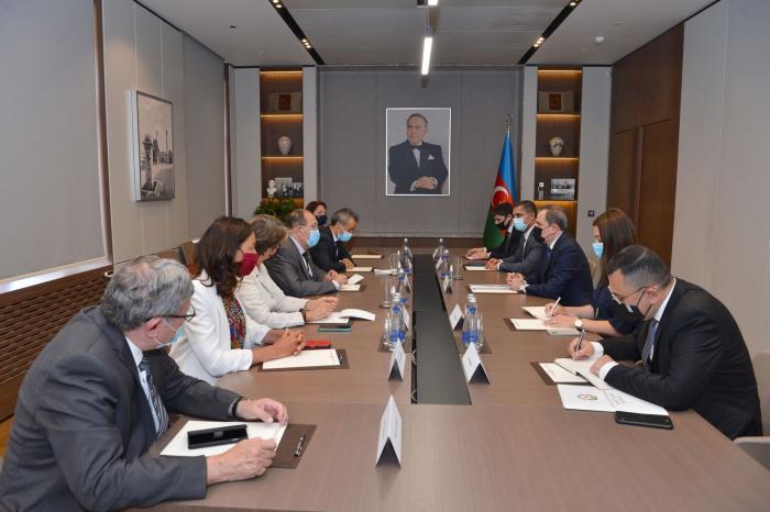 El Titular de Exteriores de Azerbaiyán se reúne con miembros de la Asamblea Nacional francesa