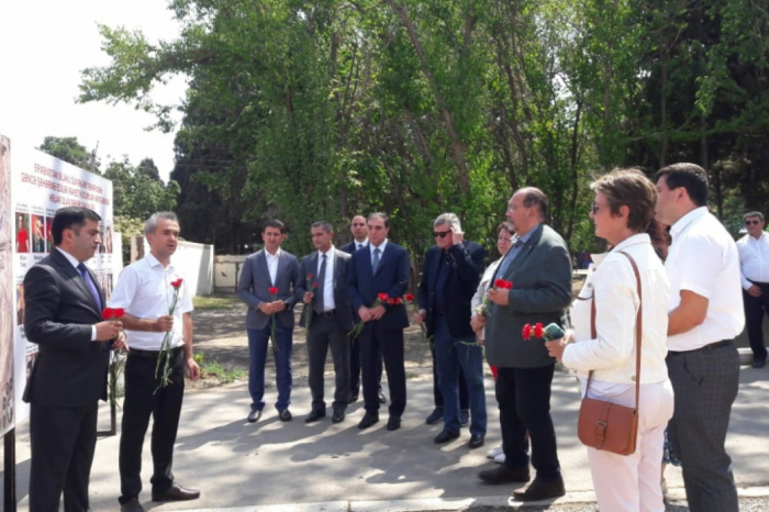 Los miembros de la Asamblea Nacional francesa visitan el área incendiada por Armenia en Ganyá