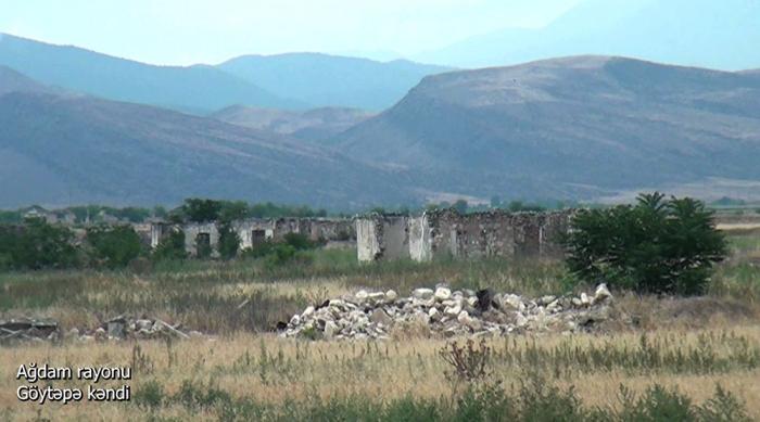 Goytepe-Dorf im aserbaidschanischen Bezirk Agdam –   VIDEO