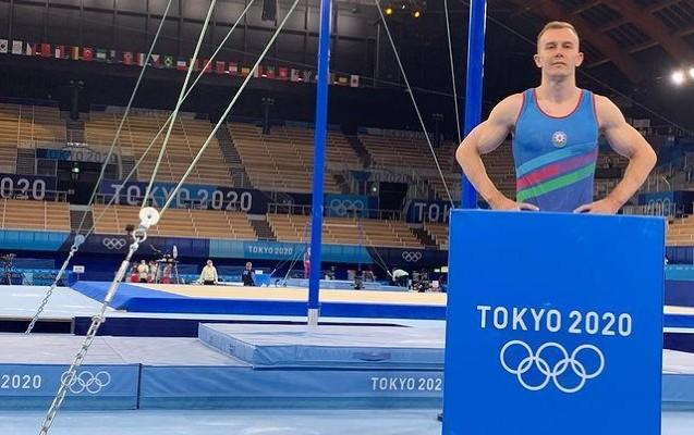 Azerbaijani gymnast completes performance at 2020 Summer Olympics in Tokyo