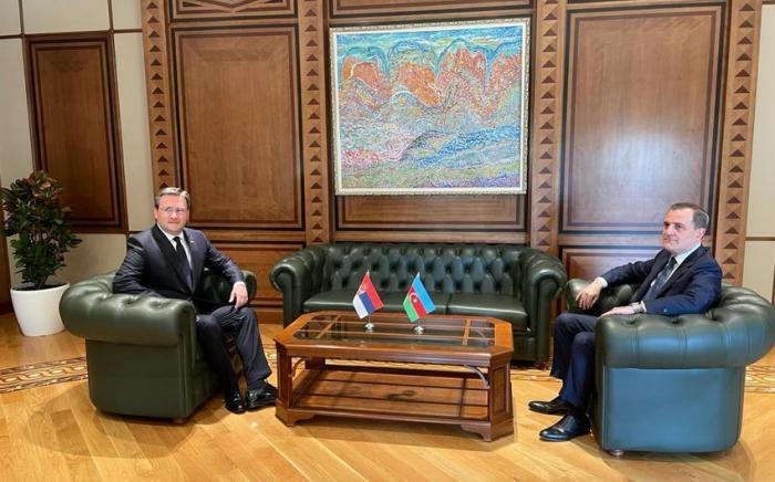 Dscheyhun Bayramov traf sich mit seinem serbischen Amtskollegen