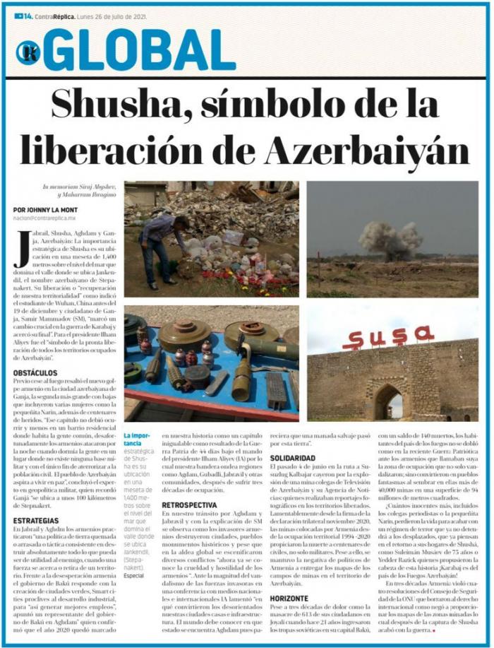 Shusha, símbolo de la liberación de Azerbaiyán