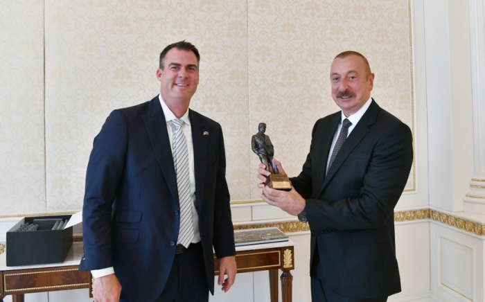 President Aliyev receives delegation led by Governor of US State of Oklahoma