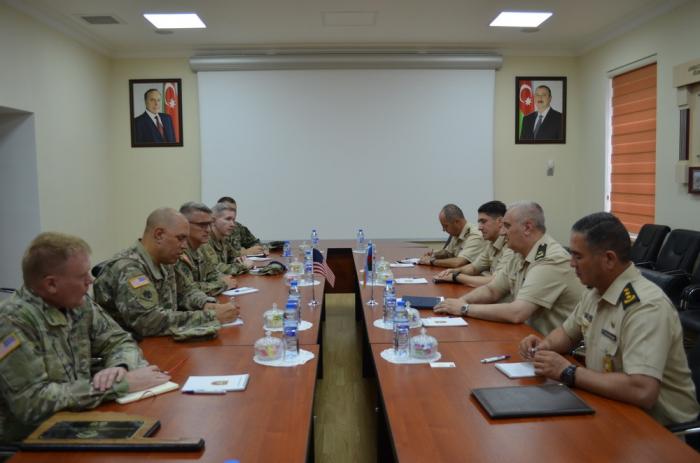 US Oklahoma Army National Guard's delegation meets with Azerbaijan