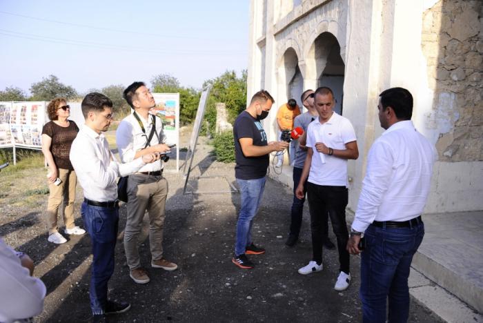 Xarici jurnalistlər Ağdamda
