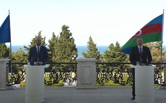 Le président Aliyev et Charles Michel ont tenu une conférence de presse conjointe - Mise à Jour - Vidéo