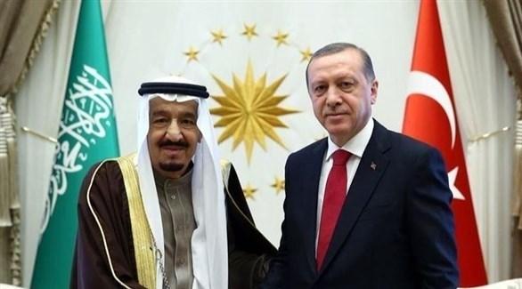 الملك سلمان يتلقى التهاني من الرئيس التركي