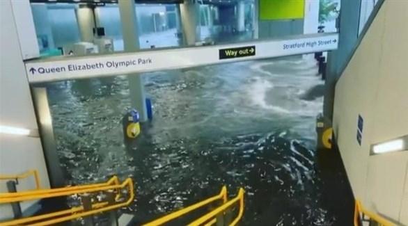 المياه تغمر الشوارع ومحطات مترو الأنفاق في لندن