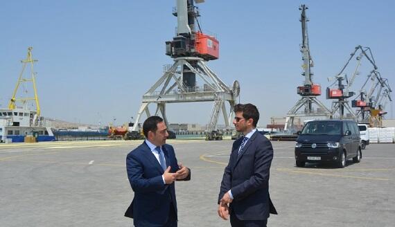 Embajador de Israel en Azerbaiyán visita el Puerto de Bakú