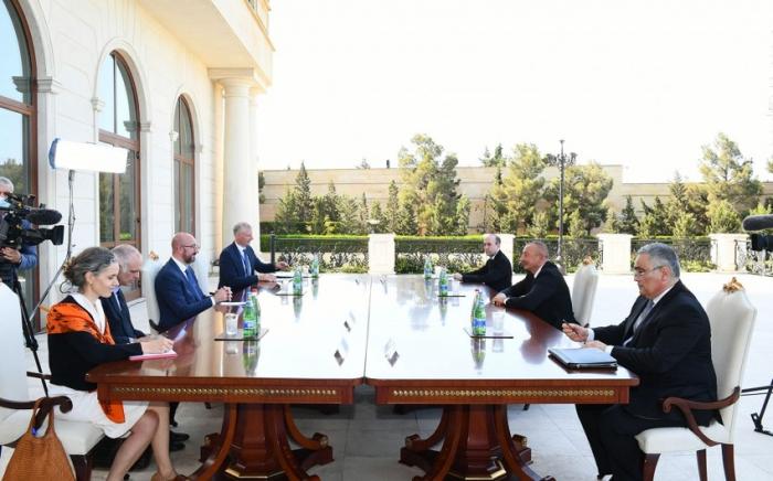 Entretien du président azerbaïdjanais avec une délégation du Conseil européen