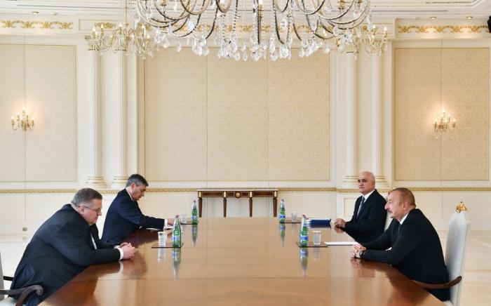 İlham Əliyev Rusiya Baş nazirinin müavinini qəbul edib