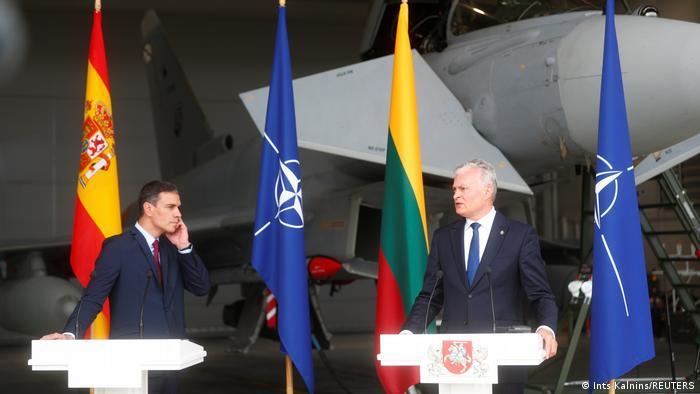 Litvada gərgin anlar:    Rus qırıcıları prezidentlərin mətbuat konfransını pozdu -VİDEO
