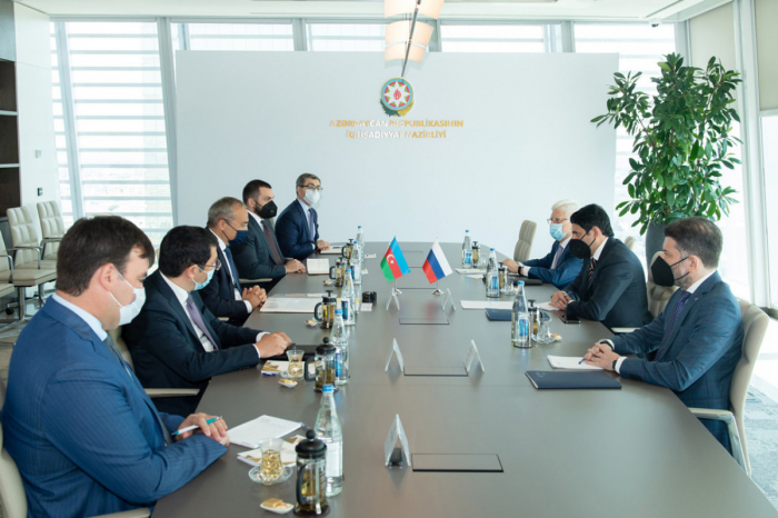 Rusiya ilə ticari-iqtisadi əməkdaşlığın genişləndirilməsi müzakirə edilib