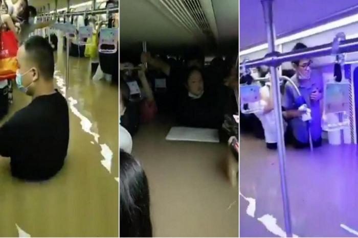 Çində metro tunellərinə su dolub, ölənlər var