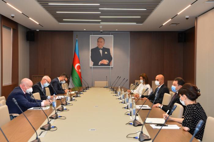 نائب وزير الخارجية يلتقي مع مقرر الجمعية البرلمانية لمجلس أوروبا