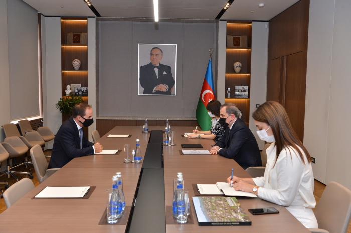 El Canciller de Azerbaiyán se reúne con el jefe de la oficina de UNICEF en el país