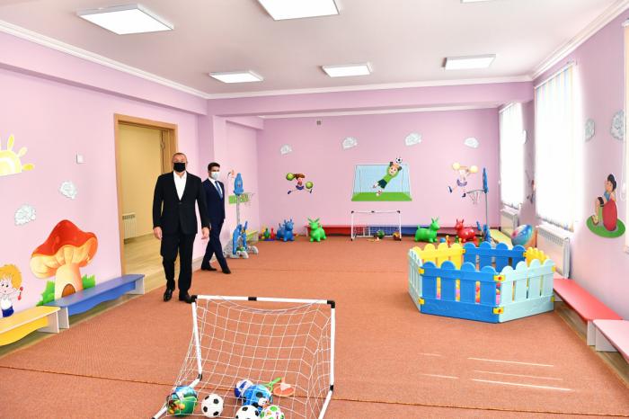 Naftalanda körpələr evi-uşaq bağçası istifadəyə verilib -  FOTO - YENİLƏNİB
