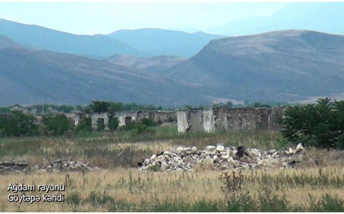 Le ministère de la Défense diffuse une vidéo de la région d'Aghdam -VIDEO