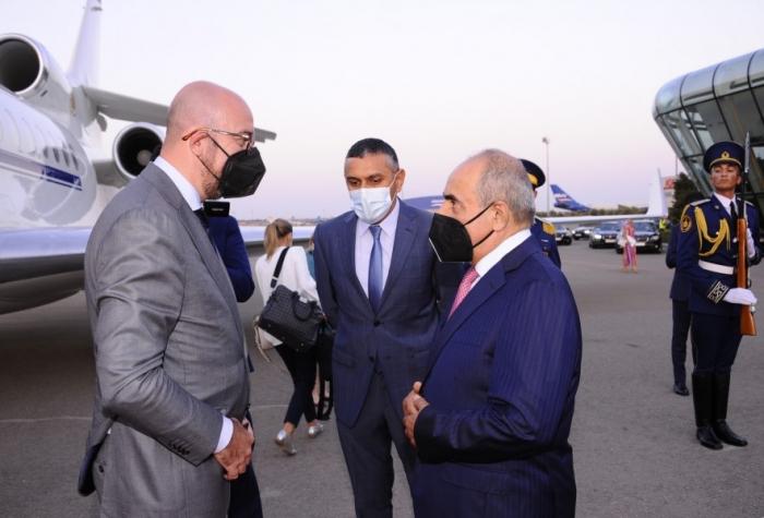 Le président du Conseil européen arrive en Azerbaïdjan