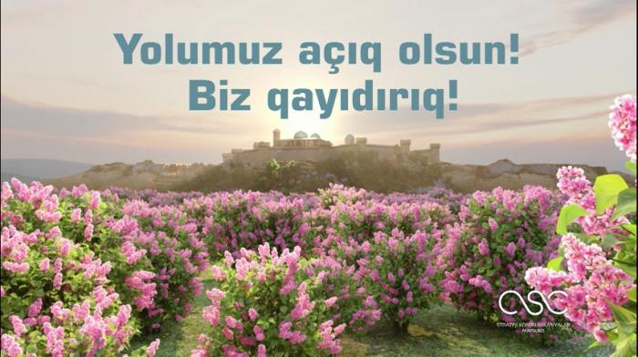 """Xarı bülbüldən Yasəmənə:    """"Biz qayıdırıq""""    – Simvollarla dolu    VİDEO"""