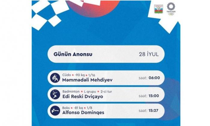 Sabah 3 idmançımız Olimpiadada mübarizə aparacaq