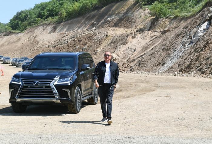 Prezident Goranboyda avtomobil yolunun açılışında-  YENİLƏNİB