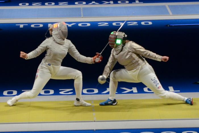 Esgrimista azerbaiyana se clasificó para los 1/8 de final en los Juegos Olímpicos de Tokio