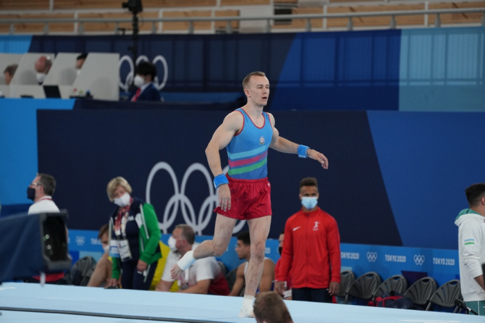 El gimnasta azerbaiyano completa su actuación en los Juegos Olímpicos de Verano de 2020 en Tokio