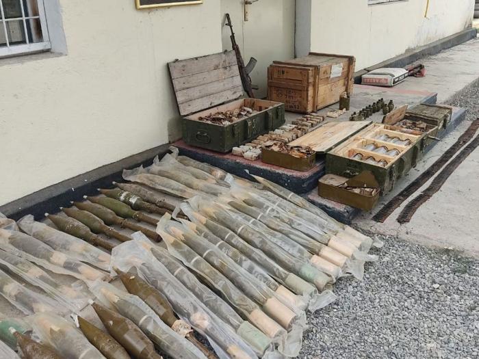 Weapons and ammunition found in Azerbaijan's Gubadli district