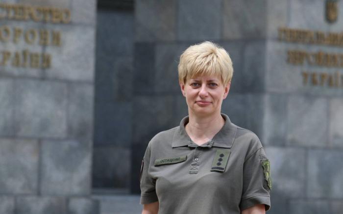 Ukrayna ordusunda ilk dəfə qadın komandan təyin edilib
