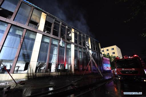 Chine : Un incendie dans un entrepôt fait 14 morts