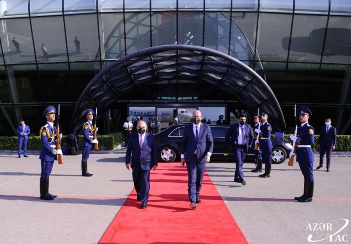 Le président du Conseil européen a terminé sa visite en Azerbaïdjan