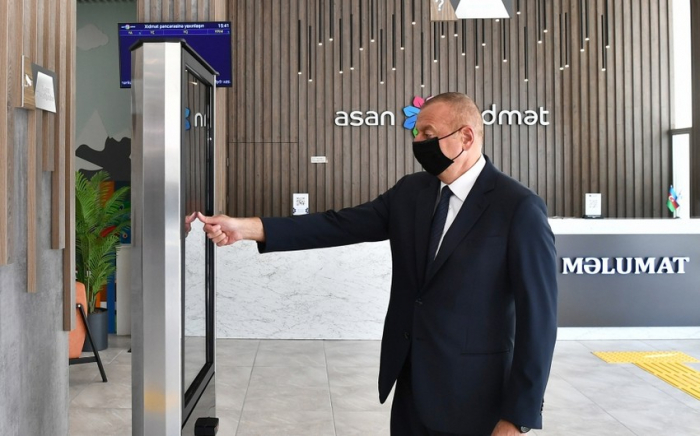 """Prezident 6 saylı """"ASAN xidmət"""" mərkəzinin açılışında -  FOTOLAR"""