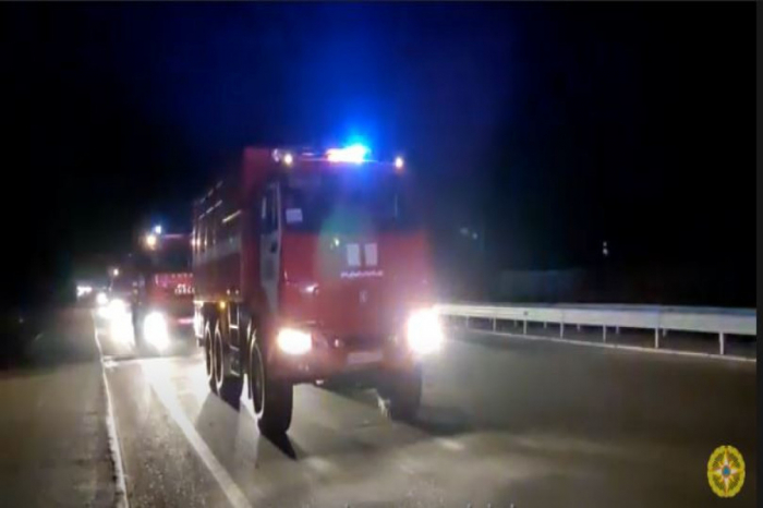 Another group of Azerbaijani firefighters, rescuers leaves for Turkey -   VIDEO