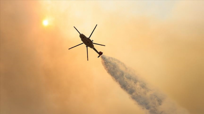 Turkey's efforts to fight wildfires by air continues apace
