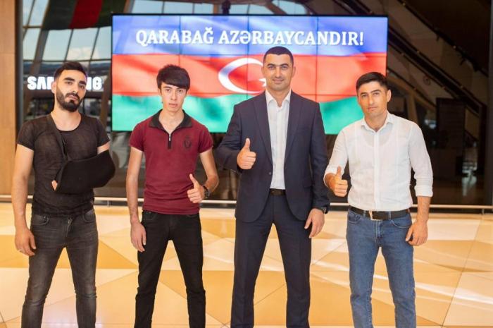 """El Fondo """"YASHAT"""" envía a Turquía para su tratamiento a otros 3 participantes de la Guerra Patria de Azerbaiyán"""