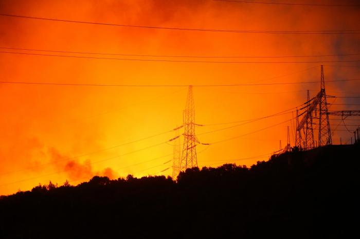 Fire near power plant in southwestern Turkey