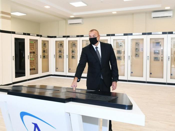 "President Ilham Aliyev attends opening of newly renovated 110/35/6 kV ""Surakhani"" substation"