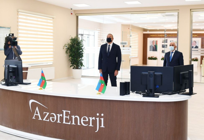 Azerbaijani president attends opening of overhauled Absheron Substation