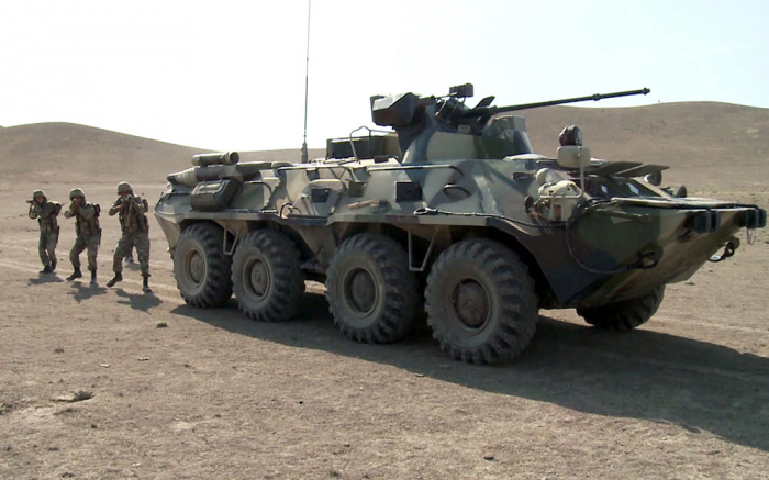Crews of Azerbaijani Army