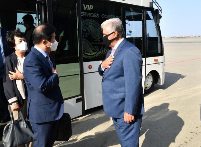 Chair of Korean National Assembly arrives in Azerbaijan