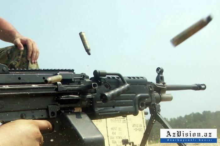 Armenia again opens fire at Azerbaijani army's positions