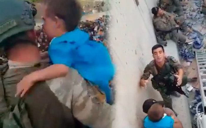 Azerbaijani peacekeepers rescue child in Kabul -  VIDEO