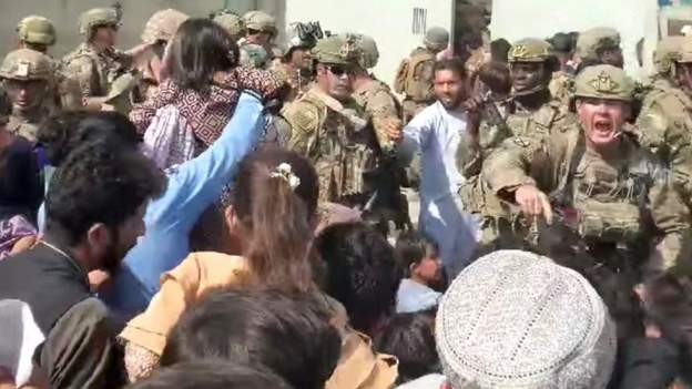 Seven die in Kabul airport crowd, says UK
