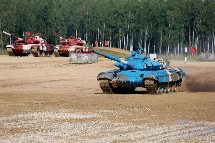 Azerbaijani tankers start first race within Tank Biathlon competition in Moscow